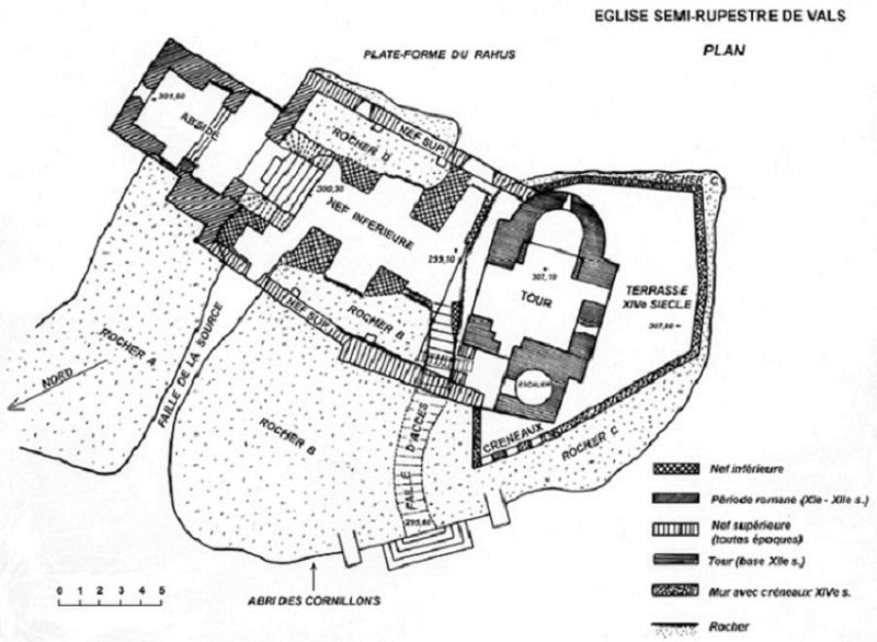 plan-de-l-eglise-semi-rupestre-de-vals